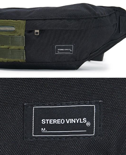 ステレオバイナルズ(Stereo Vinyls) [SS17 Colour] Hip bag(Black)
