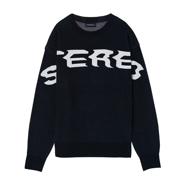 ステレオバイナルズ(Stereo Vinyls) [SS17 Colour] Logo Jacquard Knit(Black)