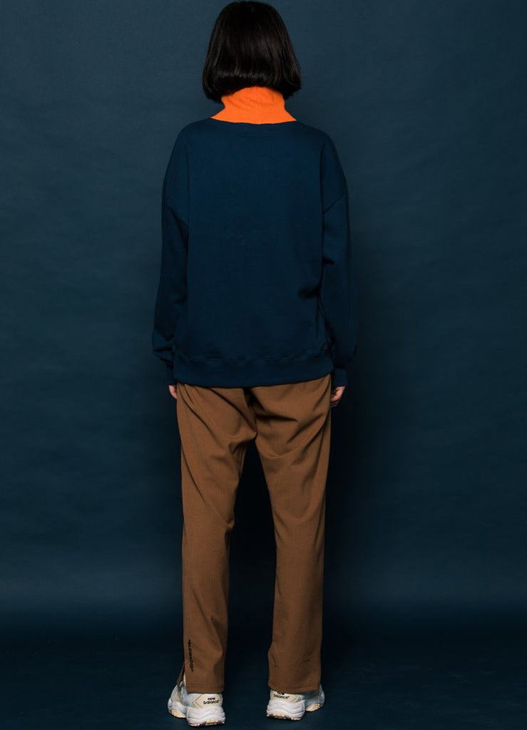 スローアシッド(SLOW ACID) Logo Slit Slacks (CAMEL)