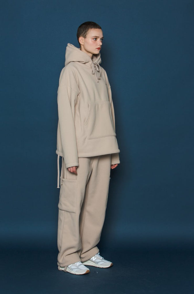 スローアシッド(SLOW ACID) Heavy Fleece Pants (BEIGE)