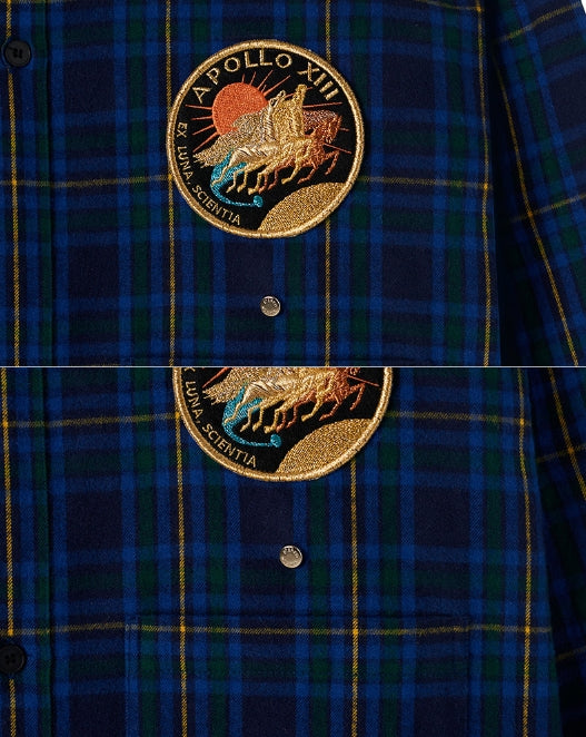 ステレオバイナルズ(Stereo Vinyls) [AW17 ISA] Constellation Flannel Shirt (Navy)