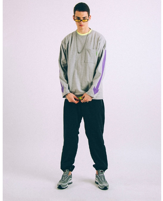 ステレオバイナルズ(Stereo Vinyls) [SS18 ISA] Arrow Long Sleeve(Melange Grey)