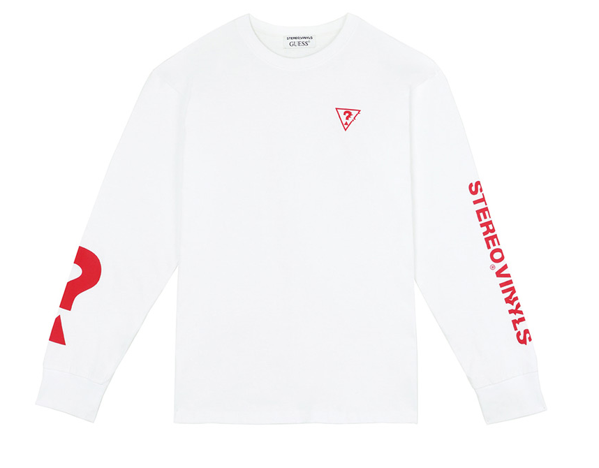 ステレオバイナルズ(Stereo Vinyls) [18FW STEREO X GUESS] Long sleeve TS(White)