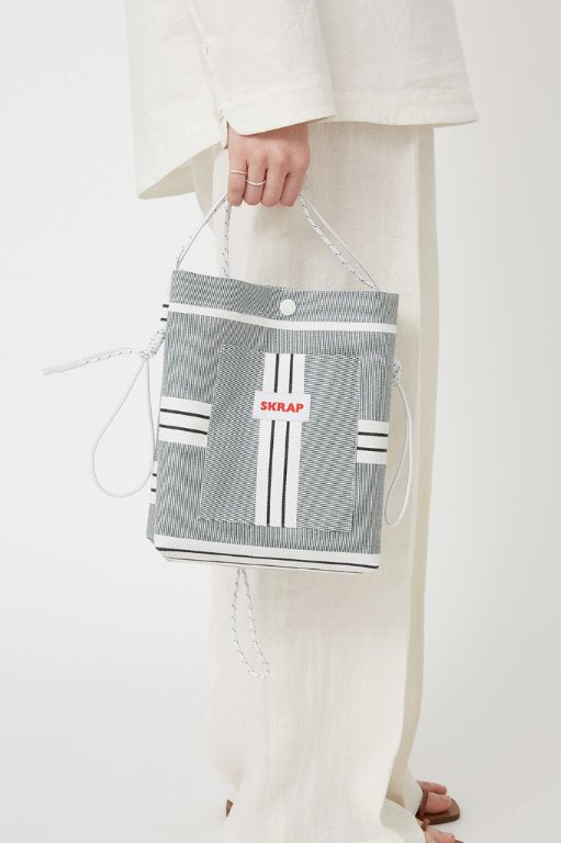 スクラップ(SKRAP) AWNING sacoche bag Green stripe