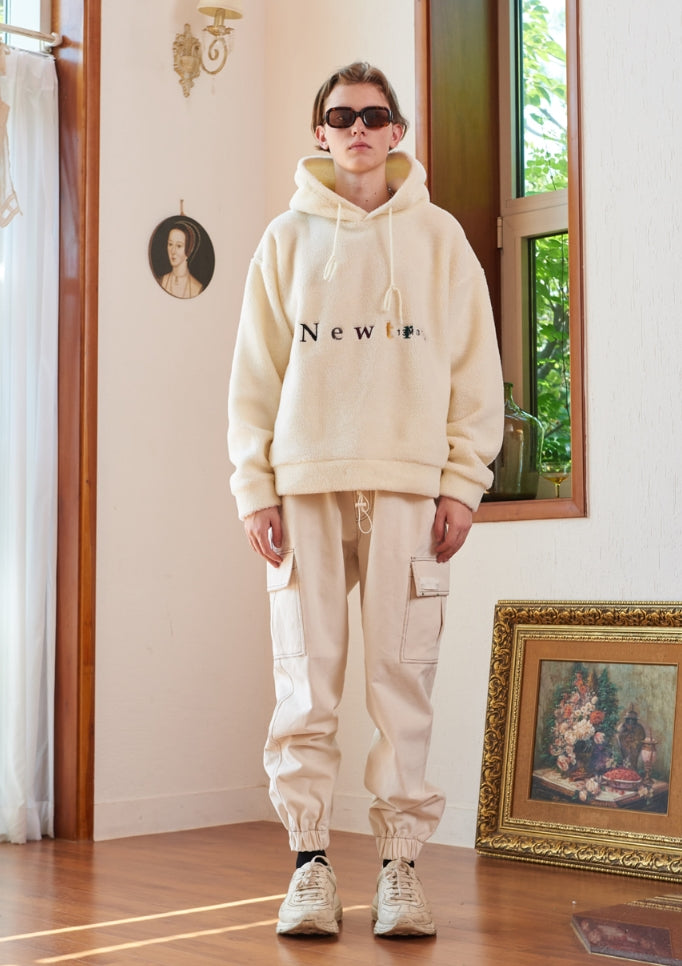 サーティーンマンス(13MONTH)NEWTRO FLEECE HOOD T-SHIRT (IVORY)