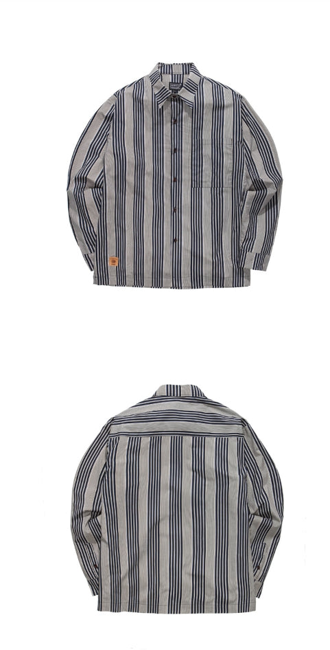 パーステップ(PERSTEP) Save Stripe Shirt 3種 SMLS4306