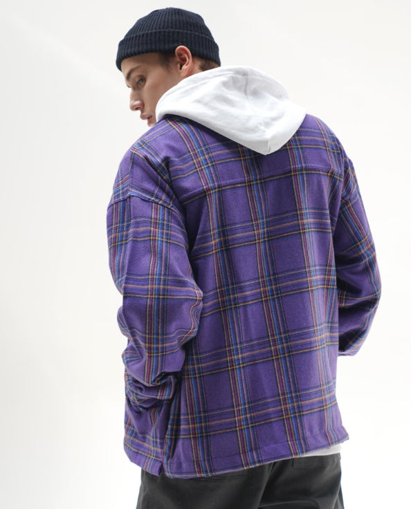 パーステップ(PERSTEP) Check Big Pocket Wool Jacket 2種 SMLS4285
