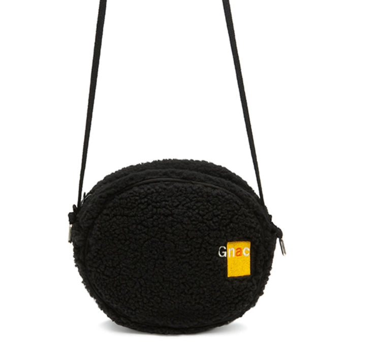 ロマンティッククラウン(ROMANTIC CROWN) GNAC FLEECE COIN BAG_BLACK