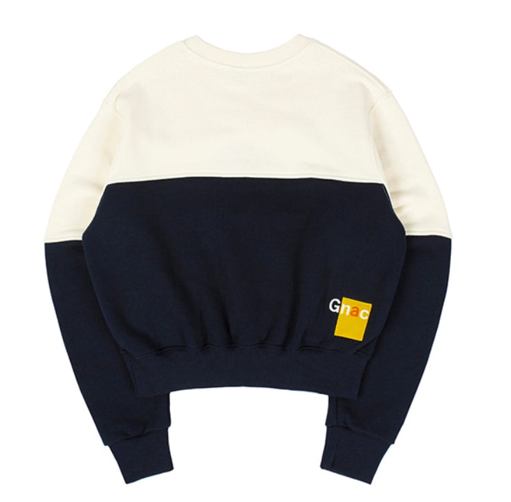 ロマンティッククラウン(ROMANTIC CROWN)GNAC COLOR BLOCK SWEATSHIRT_OATMEAL