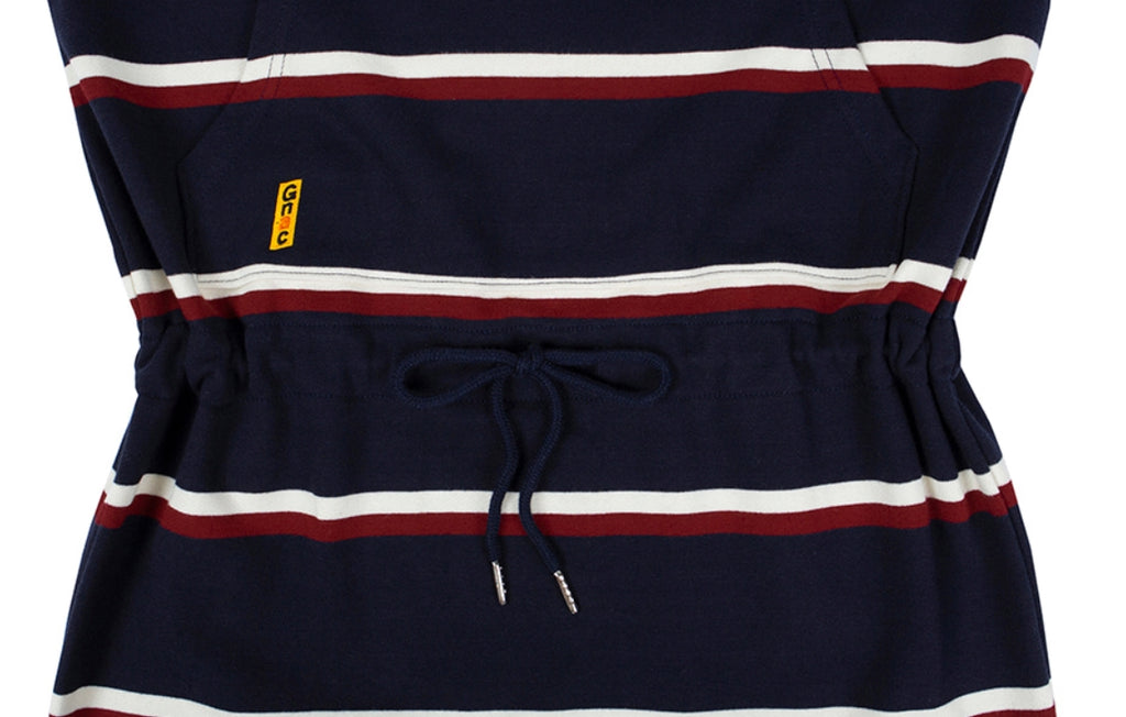 ロマンティッククラウン(ROMANTIC CROWN) GNAC STRIPE POCKET DRESS_NAVY