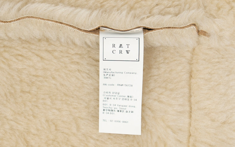 ロマンティッククラウン(ROMANTIC CROWN) GNAC SHORT MOUTON JACKET_BEIGE