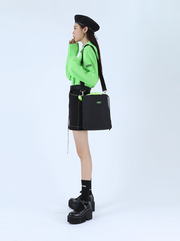 ベーシックコットン(BASIC COTTON) BC Basic Zipper Skirts - Black