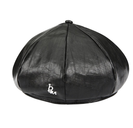 サーティーンマンス(13MONTH) LEATHER HUNTING CAP (BLACK)