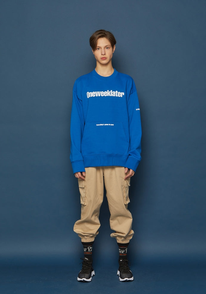 スローアシッド(SLOW ACID) Pocket Sweatshirt (BLUE)