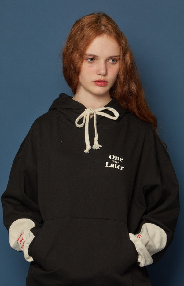 スローアシッド(SLOW ACID) Reverse Patch Hoodie (BLACK)