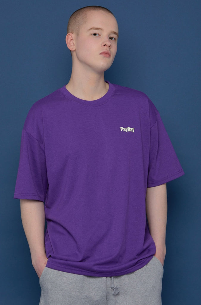 スローアシッド(SLOW ACID) Back Logo Short-T (VIOLET)