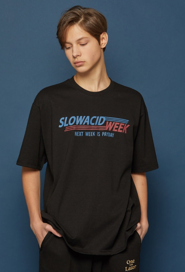 スローアシッド(SLOW ACID) SLOWACIDWEEK Short-T (BLACK)