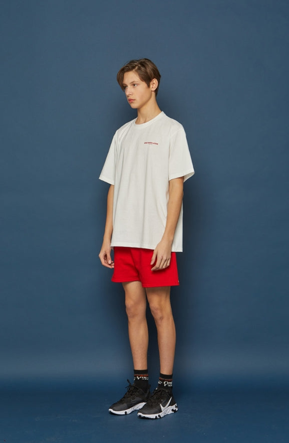 スローアシッド(SLOW ACID) Vertical Logo Short-T (WHITE)