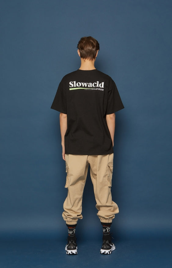 スローアシッド(SLOW ACID) Neon Logo Short-T (BLACK)