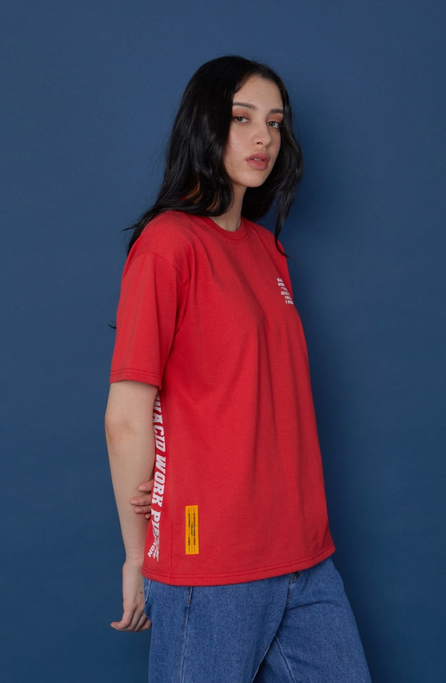 スローアシッド(SLOW ACID) 19SU Short-T (RED)