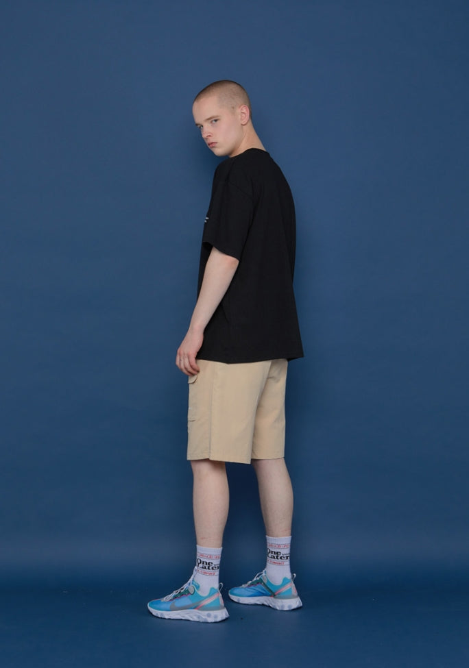 スローアシッド(SLOW ACID) Circle Logo Short-T (BLACK)