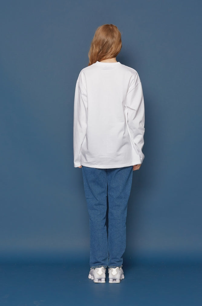 スローアシッド(SLOW ACID)Story Logo Long-T (WHITE)