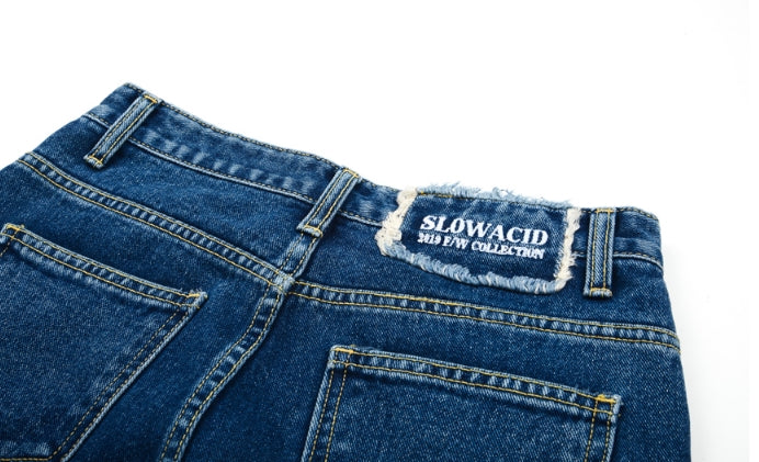 スローアシッド(SLOW ACID) Key ring Denim Pants (DEEP BLUE)