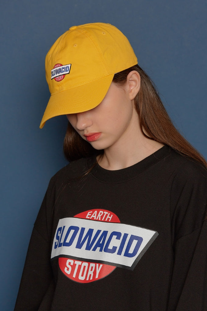 スローアシッド(SLOW ACID)Story Logo Cap (YELLOW)