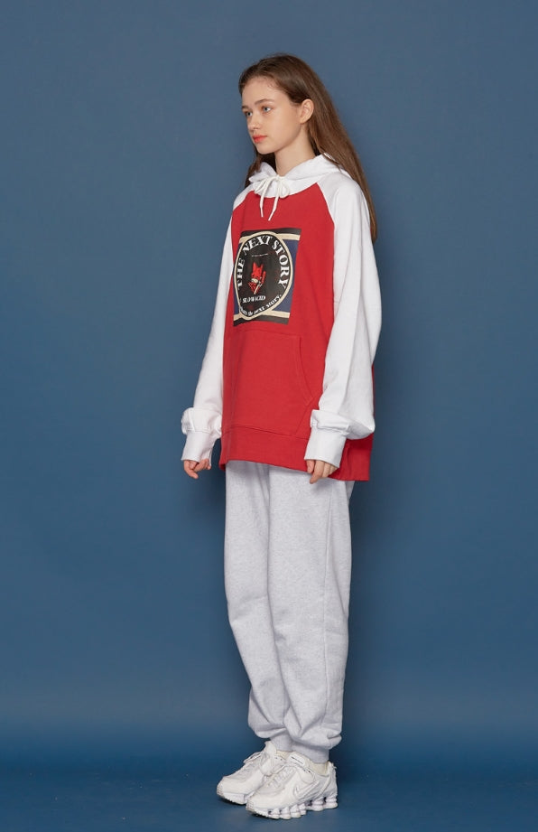 スローアシッド(SLOW ACID)Fox Raglan Hoodie (RED)