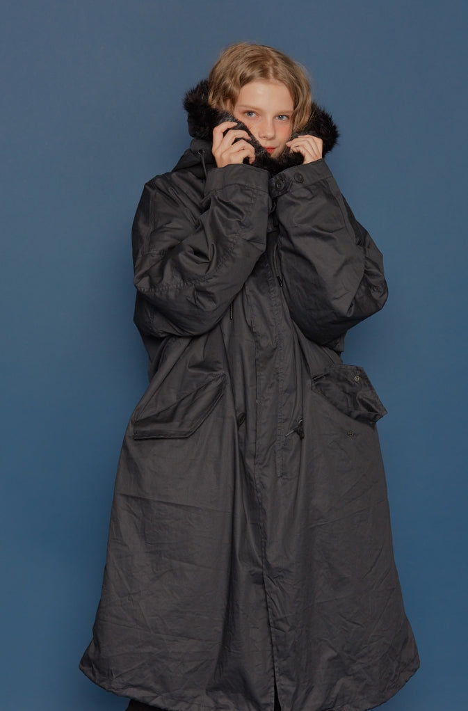 スローアシッド(SLOW ACID)19FW M-65 Fishtail Parka (BLACK)
