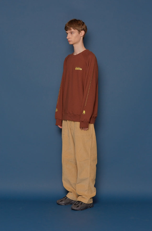 スローアシッド(SLOW ACID)Wide Corduroy Pants (BEIGE)