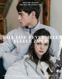 ダブルユーブイプロジェクト(WV PROJECT) DILL LINE REVERSIBLE FLEECE ZIPUP GRAY MJOT7296