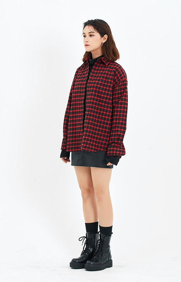 セイントペイン(SAINTPAIN)SP MINIMAL CHECK SHIRTS-RED