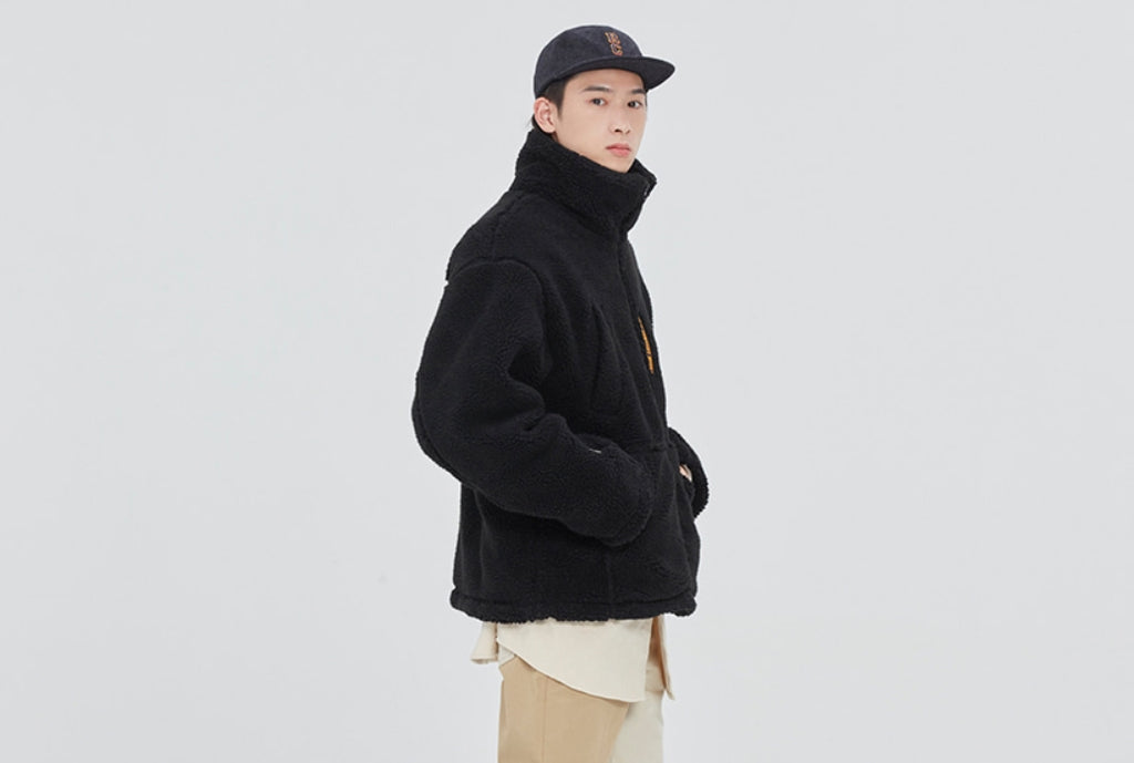 ロマンティッククラウン(ROMANTIC CROWN) POLAR BEAR FLEECE JUMPER_BLACK