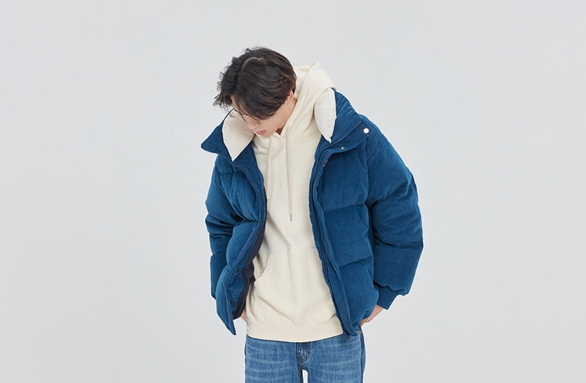 ロマンティッククラウン(ROMANTIC CROWN) INUIT CORDUROY DOWN PARKA_BLUE