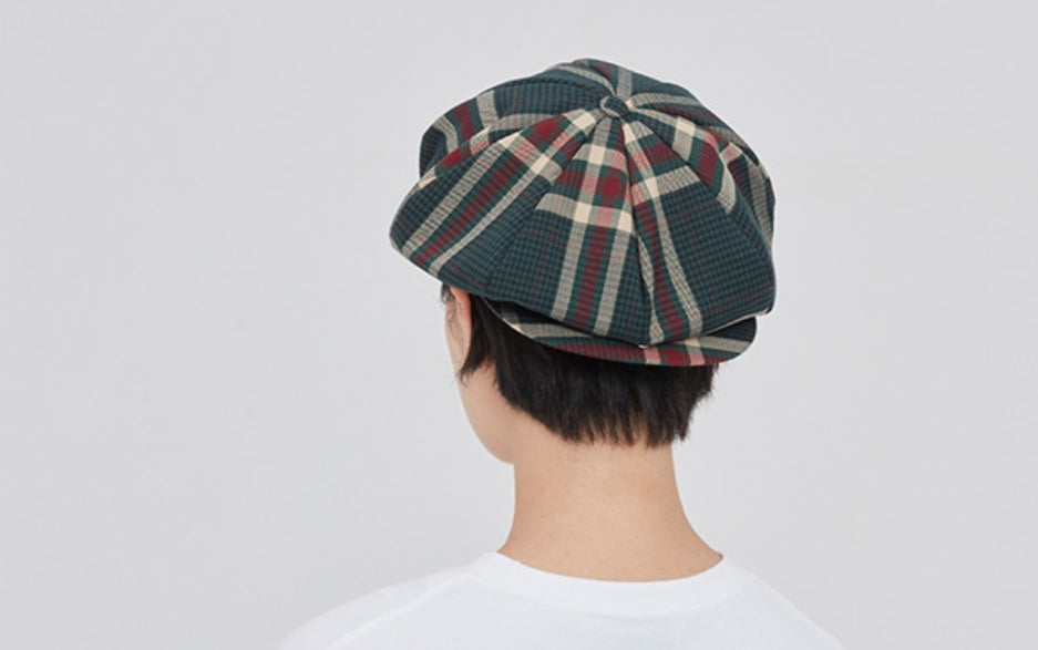 ロマンティッククラウン(ROMANTIC CROWN) OLD CHECK NEWSBOY CAP_GREEN