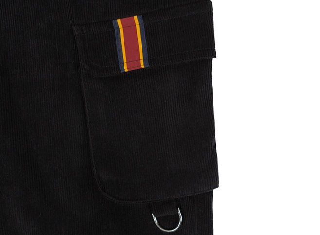ロマンティッククラウン(ROMANTIC CROWN) CORDUROY POCKET PANTS_BLACK