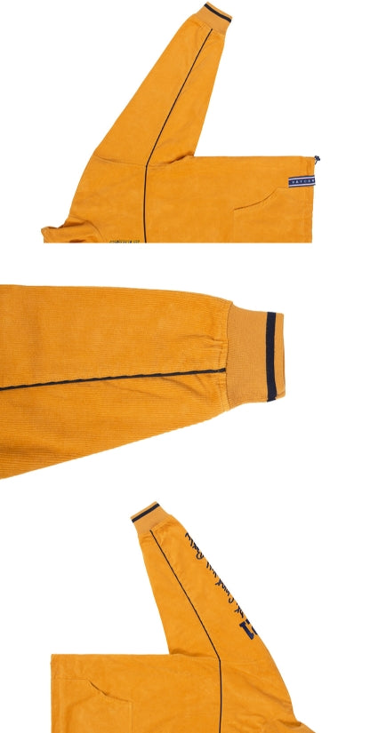 ロマンティッククラウン(ROMANTIC CROWN) CORDUROY PIPING JACKET_YELLOW