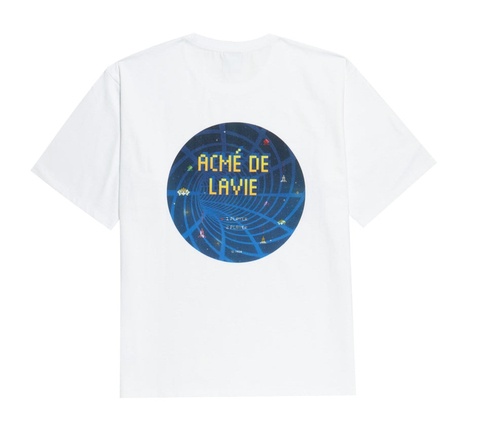 アクメドラビ(acme' de la vie) ADLV GALAXY SHORT SLEEVE T-SHIRT WHITE