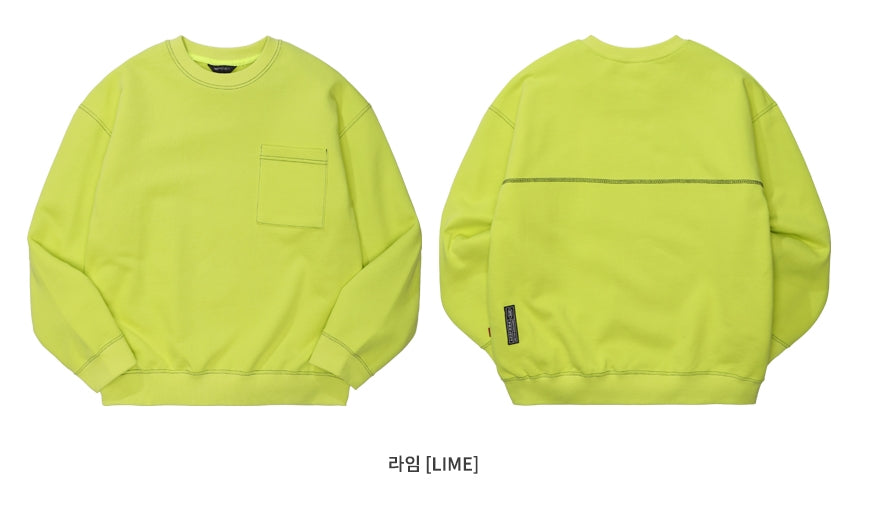 ダブルユーブイプロジェクト(WV PROJECT) SPORTY STITCH SWEATSHIR LIME JSMT7319