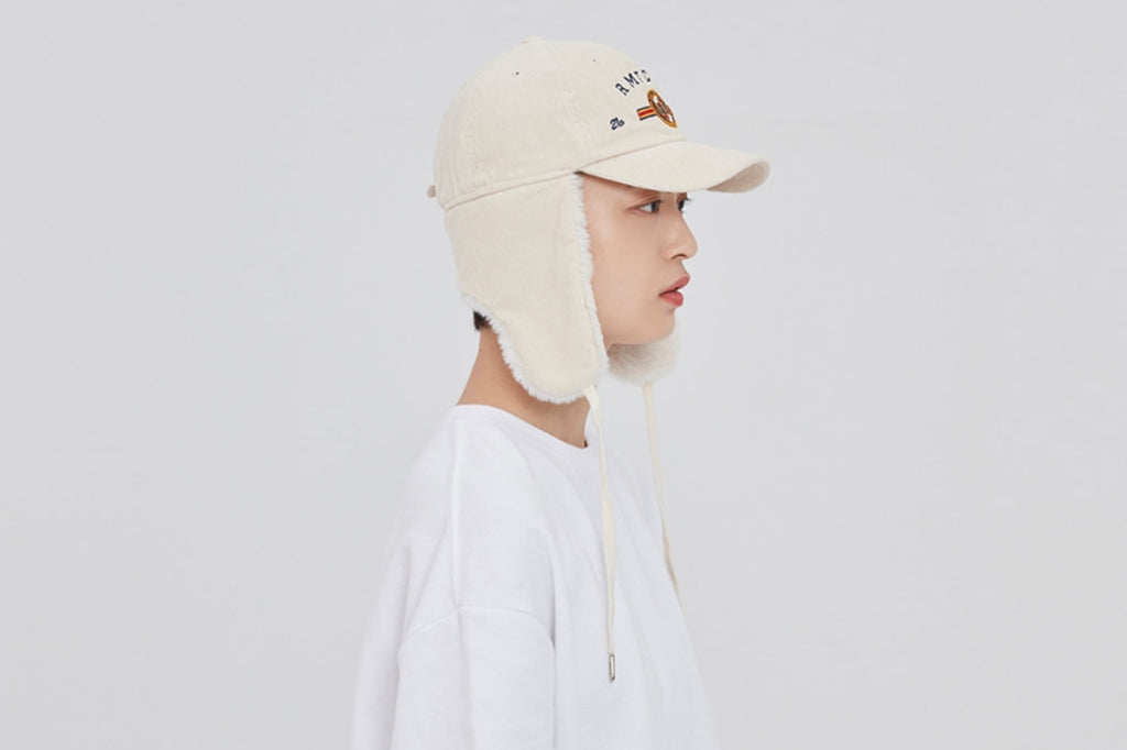 ロマンティッククラウン(ROMANTIC CROWN)   CORDUROY TROOPER HAT_OATMEAL