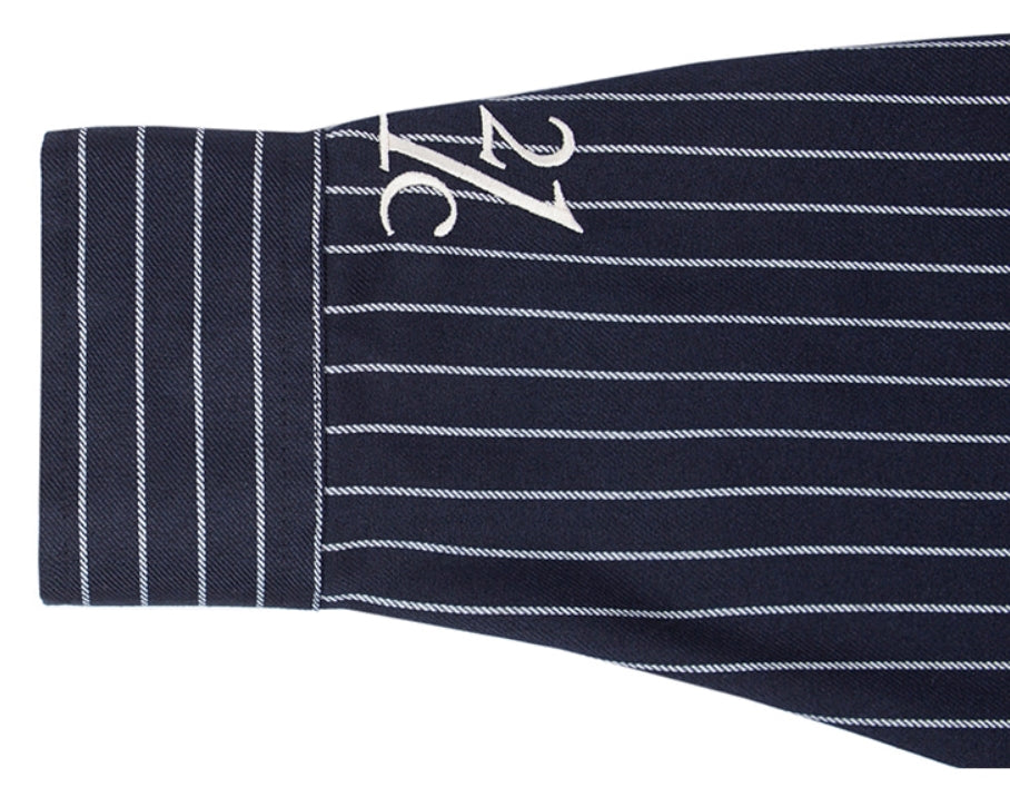 ロマンティッククラウン(ROMANTIC CROWN) 21C BOYS STRIPED SHIRT_NAVY