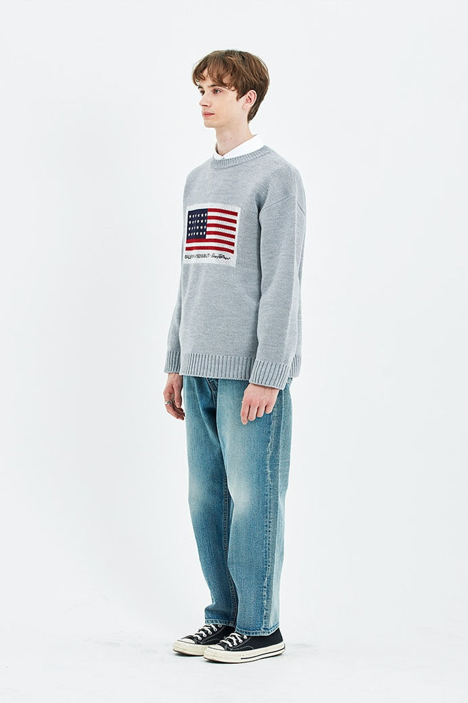 セイントペイン(SAINTPAIN) SP AMERICAN SINGLE KNIT-GRAY