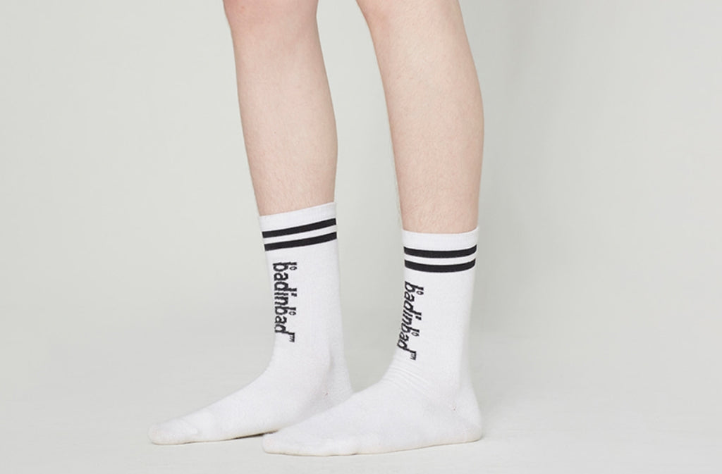 ベドインベド(BADINBAD)STRIPE SOCKS_MIX