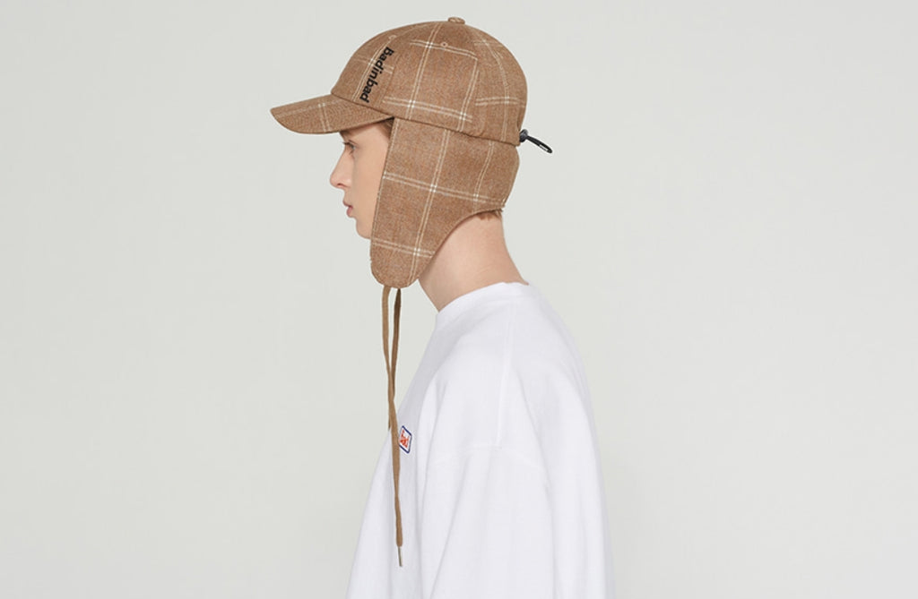 ベドインベド(BADINBAD) BIB STRING TROOPER HAT_BROWN