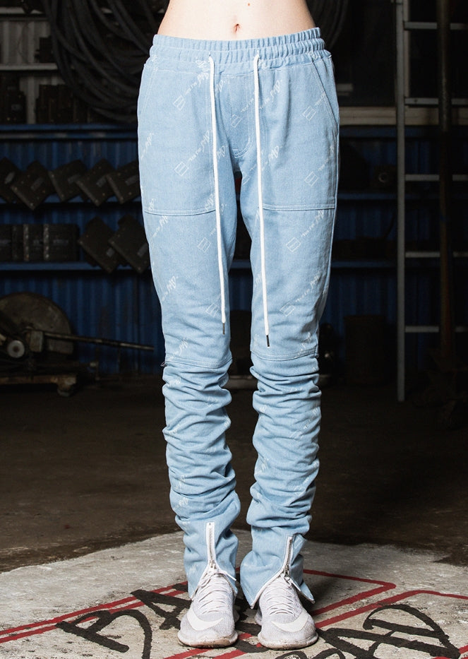 ベドインベド(BADINBAD) Drape washing pants_Blue