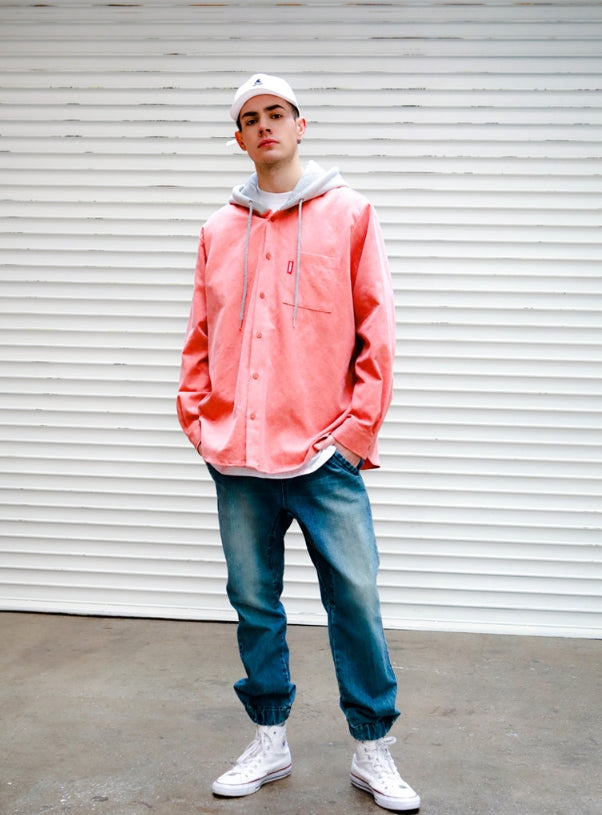 パーステップ(PERSTEP) Pigment loose fit Hood shirt 4種 SMLS4092