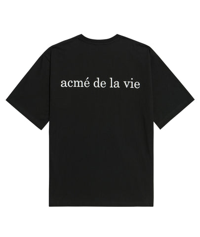 アクメドラビ(acme' de la vie) ADLV BABY FACE SHORT SLEEVE T-SHIRT BLACK SUPERMAN