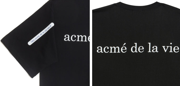 アクメドラビ(acme' de la vie) ADLV BABY FACE SHORT SLEEVE T-SHIRT BLACK TWO BOYS