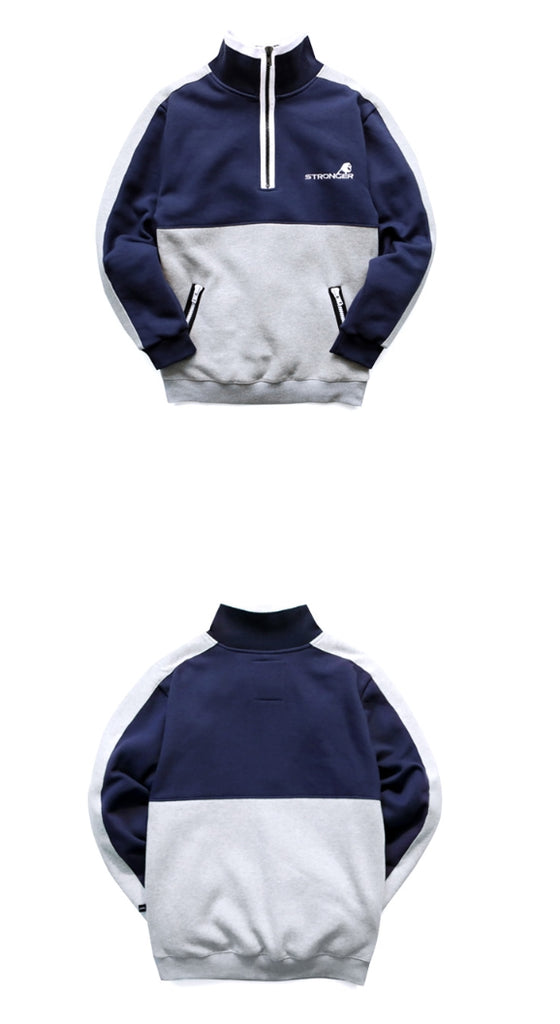 パーステップ(PERSTEP) Zipper Stripe Sweatshirt 3color SMMT4110